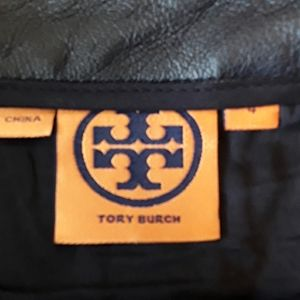 Tory  Burch  Leather  skirt Navy Heart Shapes